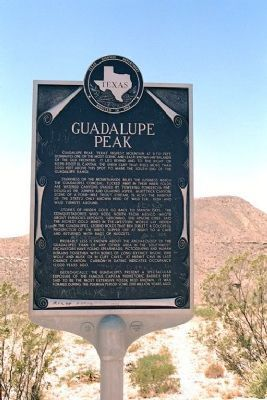 Guadalupe Peak Marker Photo, Click for full size
