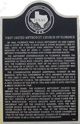 First United Methodist Church of Florence Marker image. Click for full size.