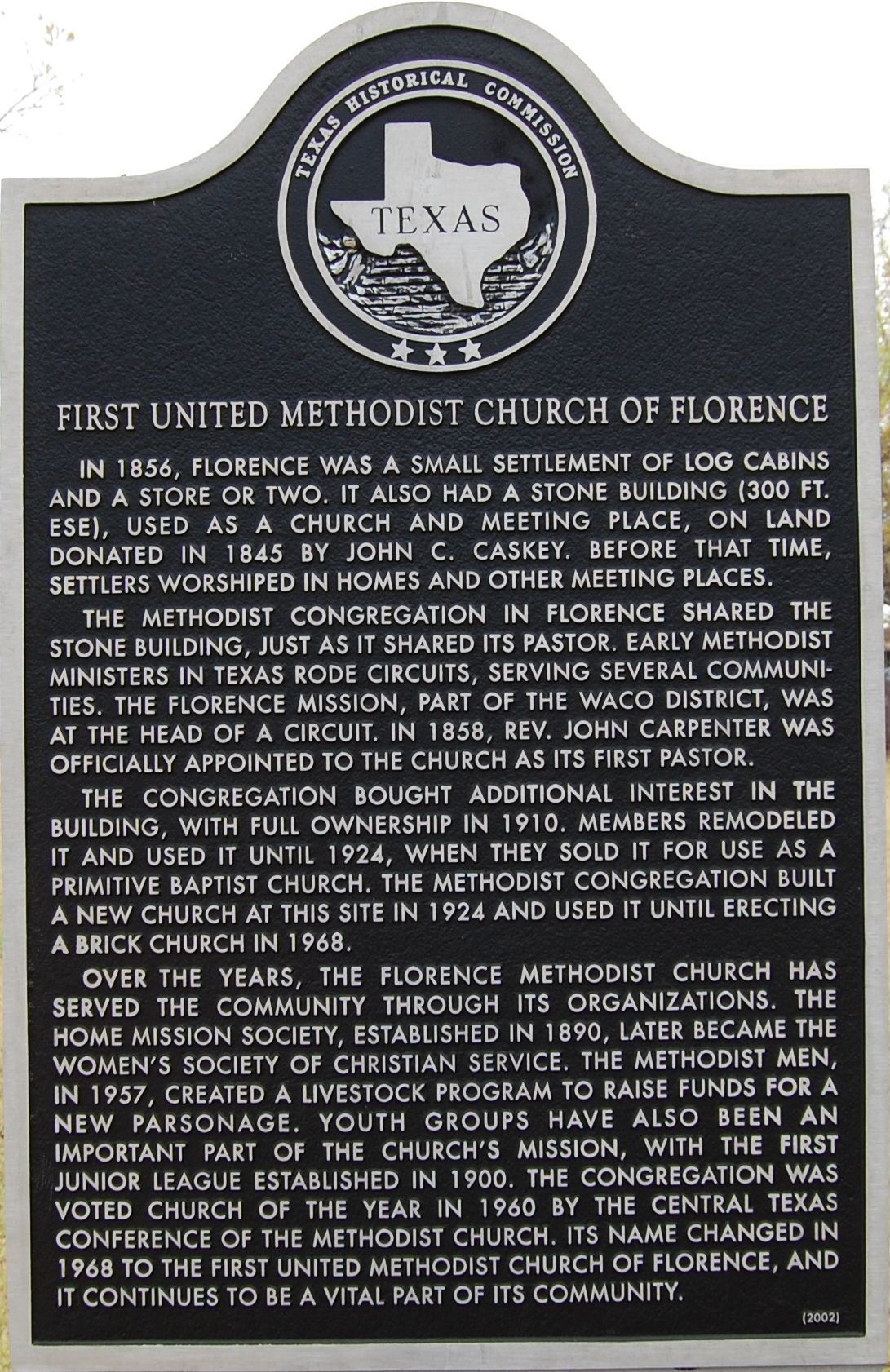 First United Methodist Church of Florence Marker