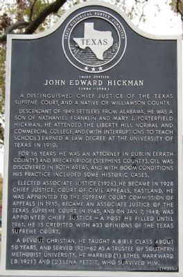 John Edward Hickman Marker image. Click for full size.