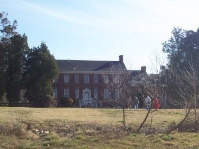 Front Side of Harmony Hall Manor (facing the Potomac River) - Broad Creek Historic District Photo, Click for full size