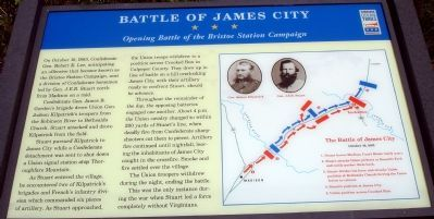 Battle of James City Civil War Trails Marker image. Click for full size.
