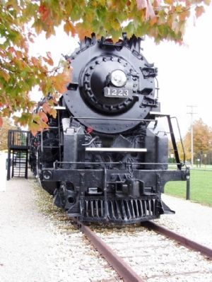 Pere Marquette Steam Locomotive No. 1223 Class N-1, 2-8-4 Berkshire Type image. Click for full size.
