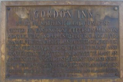 Gordon Inn Marker image. Click for full size.