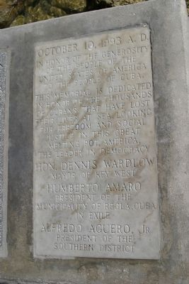 Inscription placed on monument near marker. image. Click for full size.