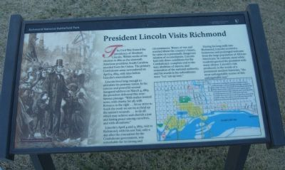 President Lincoln Visits Richmond Marker image. Click for full size.
