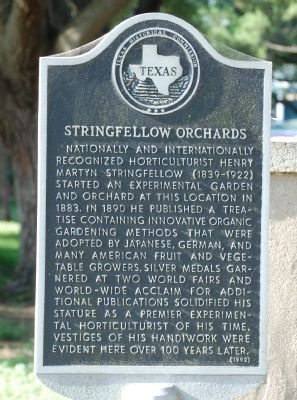 Stringfellow Orchards Marker image. Click for full size.