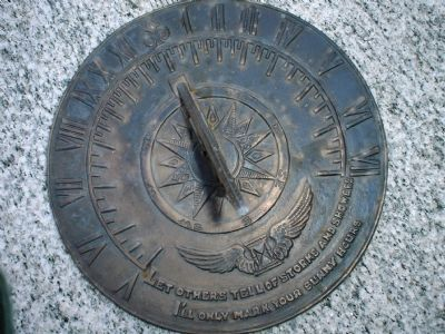 Replica of George Washington's Sundial in Mount Vernon Photo, Click for full size