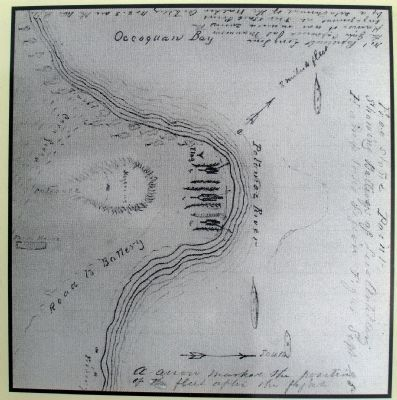 Close-up of Map on Marker Photo, Click for full size