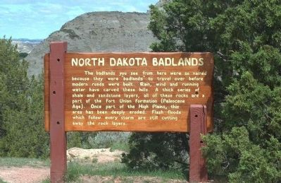 North Dakota Badlands Marker Photo, Click for full size