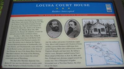 Louisa Court House Marker image. Click for full size.
