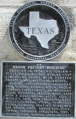 Old Broom Factory Building Marker image. Click for full size.