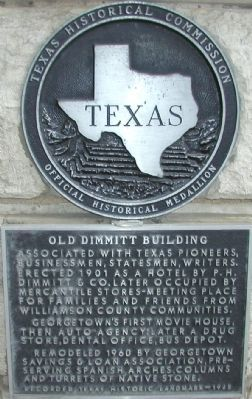 Old Dimmitt Building Marker image. Click for full size.