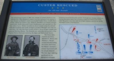 Custer Rescued Marker image. Click for full size.