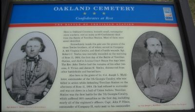 Oakland Cemetery Marker image. Click for full size.