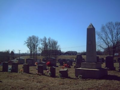 New Hulls Memorial Baptist Church from the cemetery image. Click for full size.