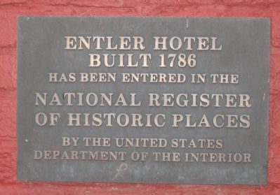 Entler Hotel National Register Plaque Photo, Click for full size