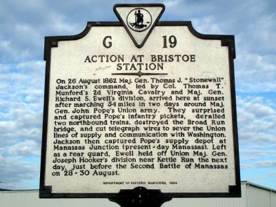 Action at Bristoe Station Marker image. Click for full size.