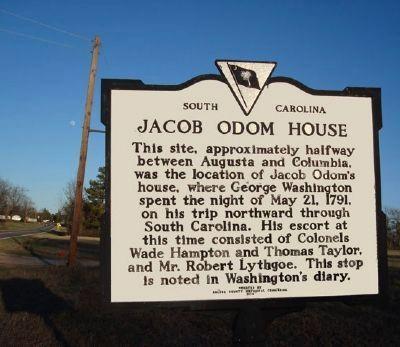 Jacob Odom House Historical Marker