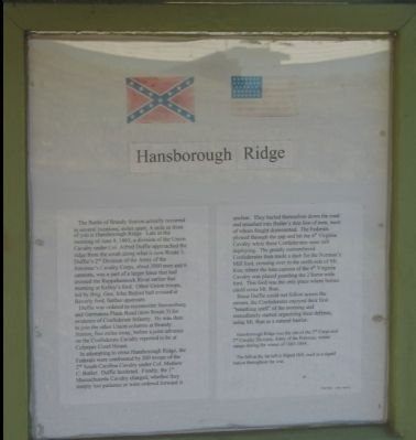 Hansborough Ridge Marker Photo, Click for full size