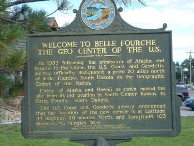 Welcome to Belle Fourche, The Geo Center of the U.S. Marker Photo, Click for full size