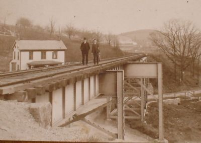 Vintage Photo of a Railroad Bridge in High Bridge Photo, Click for full size