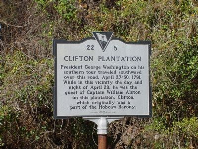 Clifton Plantation Marker image. Click for full size.
