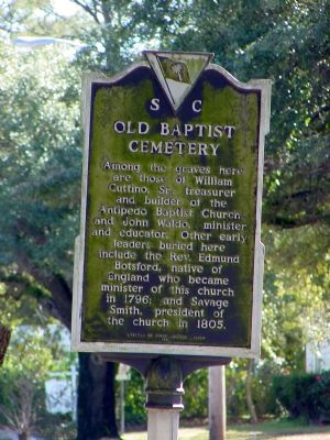 Old Baptist Cemetery Side of Marker image. Click for full size.