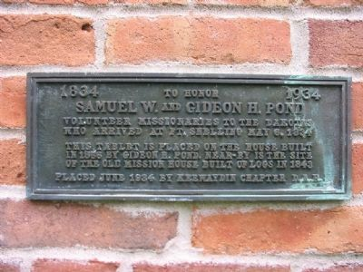Samuel W. and Gideon H. Pond Marker image. Click for full size.