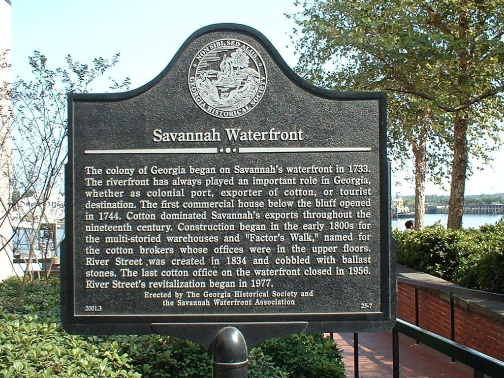 Savannah Waterfront Marker
