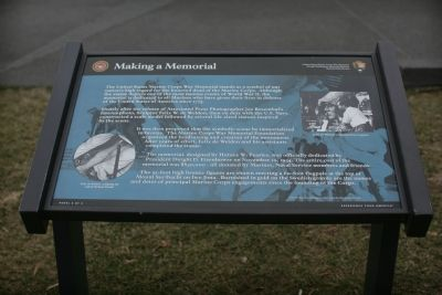 Making A Memorial Marker image. Click for full size.