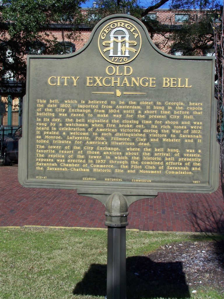 Old City Exchange Bell Marker
