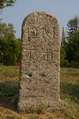 Detail of milestone 12 M to B Photo, Click for full size