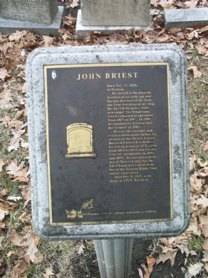 John Briest Marker image. Click for full size.