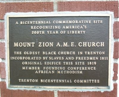 Mount Zion A.M.E. Church Marker image. Click for full size.