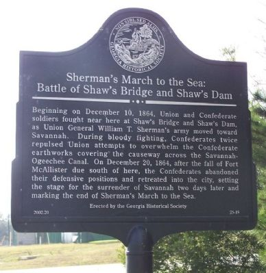 Sherman's March To The Sea : Shaw's Bridge and Shaw's Dam image. Click for full size.