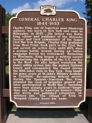 General Charles King Marker Photo, Click for full size