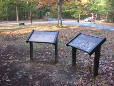 Markers at the Brock and Plank Roads Intersection Photo, Click for full size