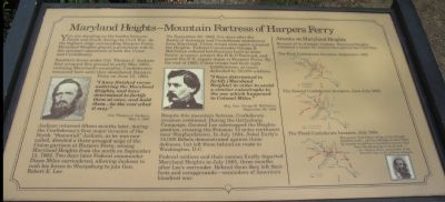 Maryland Heights - Mountain Fortress of Harpers Ferry Marker image. Click for full size.