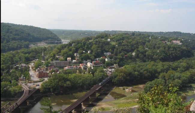 Overlook of Harpers Ferry from Maryland Heights image. Click for full size.