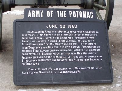 Army of the Potomac Marker image. Click for full size.