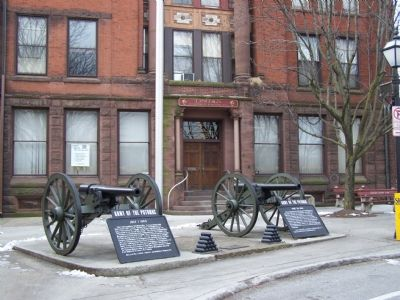 Full view of two Civil War markers image. Click for full size.