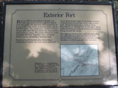 Exterior Fort Marker image. Click for full size.