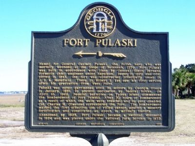 Fort Pulaski Marker image. Click for full size.