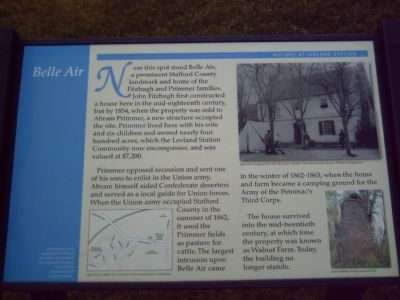History at Leeland Station - Belle Air Marker image. Click for full size.