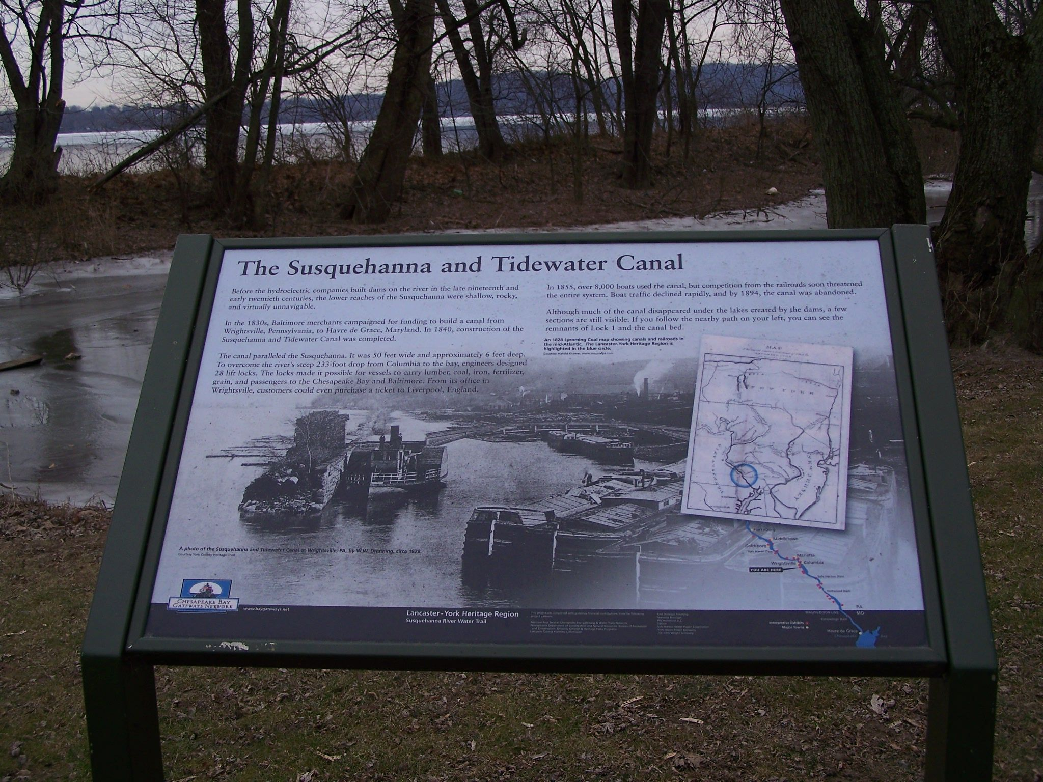The Susquehanna and Tidewater Canal Marker