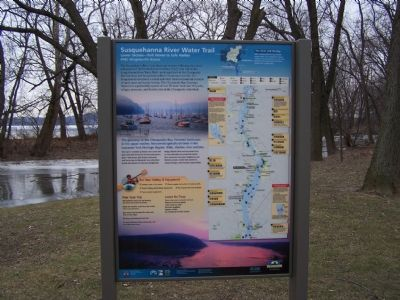 Susquehanna River Water Trail Marker image. Click for full size.
