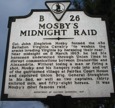 Mosby's Midnight Raid Marker image. Click for full size.