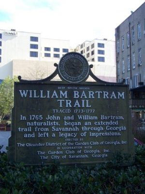 William Bartram Trail Marker Photo, Click for full size
