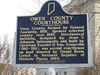 Owen County Courthouse Marker image. Click for full size.